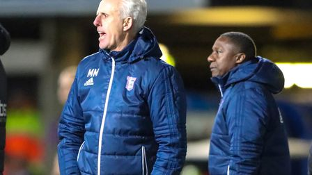 Mick McCarthy shouts his team orders during Ipswich Town's 1-0 FA Cup defeat to Sheffield United. Ph