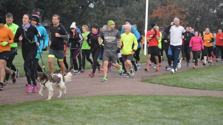 Runners, joggers, walkers and dogs took part in the 134th staging of the Harwich parkrun