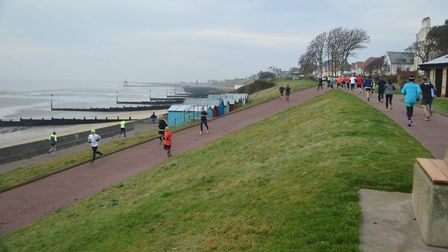 The scenic backdrop of the Harwich parkrun last Saturday, which started from Dovercourt Cliff Park