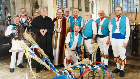 The Rt Rev Dr Mike Harrison, Bishop of Dunwich, who blessed a plough at Saint Mary's Church, Mendles
