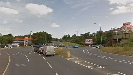 The crash happened near to the Warren Heath roundabout in Ipswich. Picture: GOOGLE MAPS