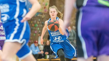 Ashleigh Pink brings the ball up the court for Ipswich. Picture: PAVEL KRICKA