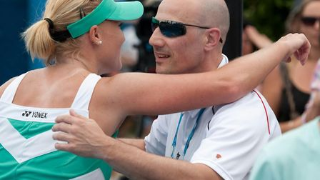 Elena with Nino at the Australian Open back in 2010. Picture: PA SPORT