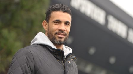 Carlos Edwards outside Ipswich Town FC. Picture: SARAH LUCY BROWN