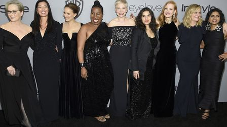 Time's Up. It's all chnage for Hollywood. Meryl Streep, from left, Ai-jen Poo, Natalie Portman, Tara