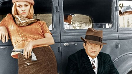Faye Dunaway and Warren Beatty tell the true story of 1920s gangsters Bonnie and Clyde - a movie tha