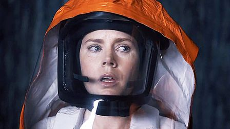 Amy Adams in Arrival she plays linguistics professor Louise Banks who is tasked with interpreting th
