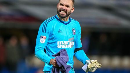 Bartosz Bialkowski is one of several Ipswich Town players in the final year of their contracts. Phot