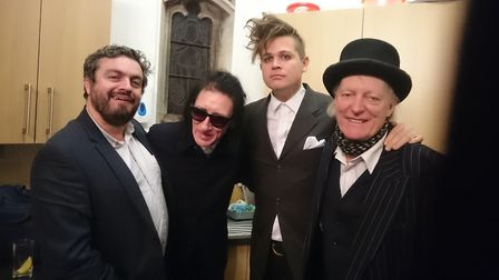 The boys are back in town. John Cooper Clarke, Luke Wright, Ross Sutherland and Martin Newell, 2017.