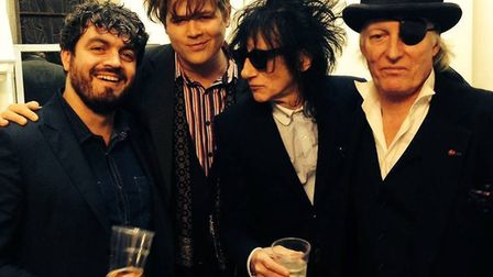 The boys are back in town. John Cooper Clarke, Luke Wright, Ross Sutherland and Martin Newell, 2014.