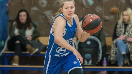 Ashleigh Pink brings the ball up court for Ipswich. Picture: PAVEL KRICKA