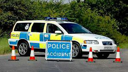 A stretch of the A12 southbound at Saxmundham has been closed following a two-vehicle crash this mor