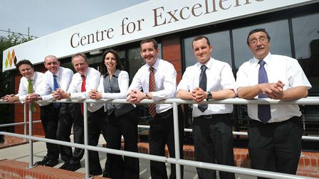 Muntons launching its Centre for Excellence. From left, Stuart Campbell, Steve Brown, Alan Ridealgh,