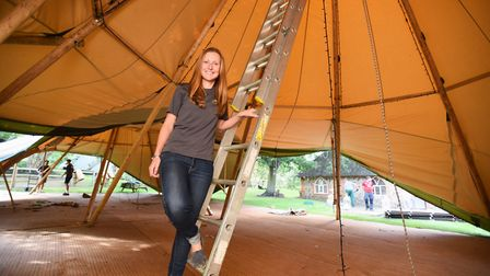 Jenna Ackerley of Events Under Canvas. Picture: GREGG BROWN