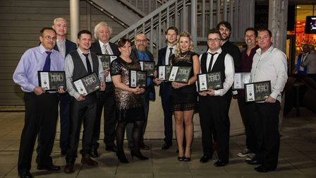 The winners ofThomas Ridley Foodservice's staff awards with their trophies. Picture: Steve Bradshaw
