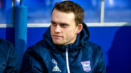 Chris Smith on the bench for the Ipswich Town v Leeds United game. Picture: STEVE WALLER