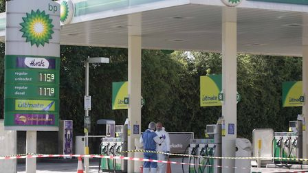 The shooting happened at a BP Garage in Baddow Road, Chelmsford. Picture: NIGE BROWN.