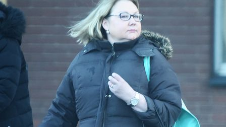 Danielle Bowyer leaving Ipswich magistrates' court. Picture: GREGG BROWN
