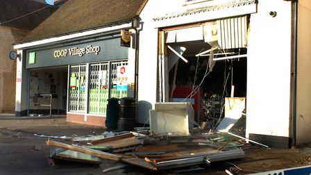 The scene of a ram-raid at Co-op in Hall Street, Long Melford. Picture: ANDY ABBOTT