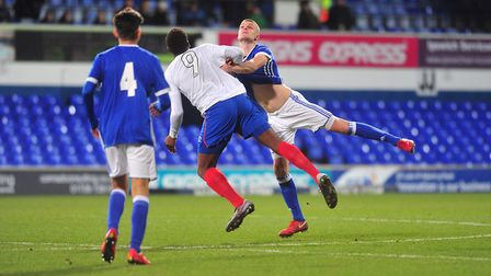 Action from the FA Youth clash between Ipswich and Dagenham & Redbridge