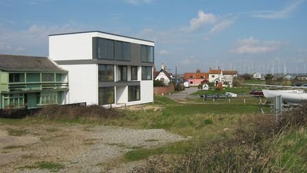 The striking white three-storey Bala Cottage, the design of which contravenes parts of the agreed pl