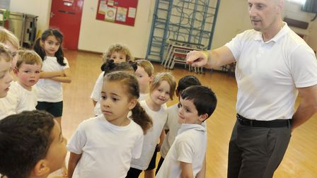 Nino Severino, right, is passionate about the health and wellbeing of children. Picture: ARCHANT