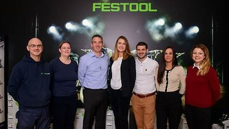 The latest recruites to joint the team at Festool: from left, Jamie Bunting, Elaine Phillips, Martin