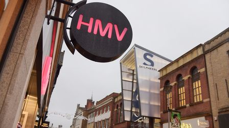 HMV's former Tavern Street location was among shops trageted by Zak Jones. Picture: SARAH LUCY BROWN