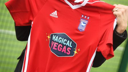 Ipswich Town have announced a three-and-a-half-year shirt sponsorship deal with Magical Vegas. Pictu