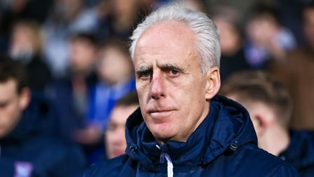 Town manager Mick McCarthy pictured during the Ipswich Town v Leeds United game.. Picture: STEVE