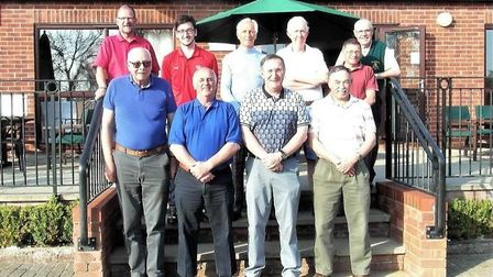A selection of the prize winners at last year's Theatre Royal Golf Day held at Haverhill Golf Club i