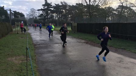Runners nearing the finish of last Saturday's 388th staging of the Norwoich parkrun, in Eaton Park.