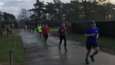 Runners approach the finish of last Saturday's Norwich parkrun in Eaton Park. Picture: CARL MARSTON