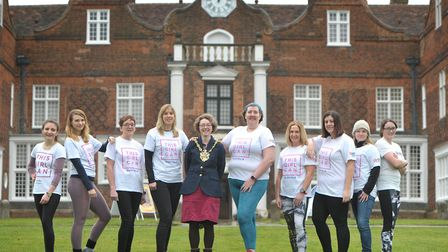 Ambassadors of the 'This Girl Can'campaign outside Christchurch Mansion in Ipswich. Picture: SARAH L