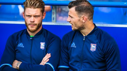 Dean Gerken (left) will replace Bartosz Bialkowski (calf strain) in goal today, while Tommy Smith (r