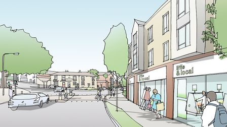 An artist's impression of a redevloped Tayfen Road junction. Picture: DAVID LOCK ASSOC