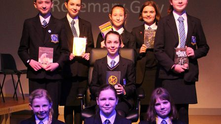 Finalists in the Thomas Gainsborough School Book Mastermind final. Picture: MARCELLE CLAXTON