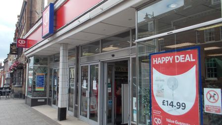 The QD store in Newmarket HighStreet, into which the nearby Thing-Me-Bobs branch is to be incorporat