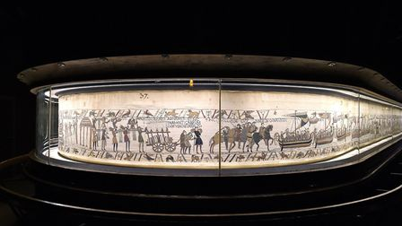 This image provided by the Mairie de Bayeux, Normandy, France, shows a section from the Bayeux tapes