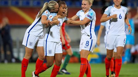The Lionesses celebrate during the UEFA Women's Euro 2017. PIcture: PA WIRE/PA IMAGES/MIKE EGERTON