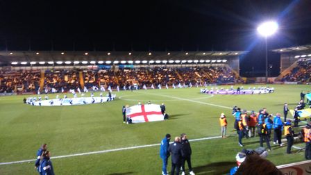 The scene at Colchester United for England's game against Kazakhstan. Picture: KATY SANDALLS