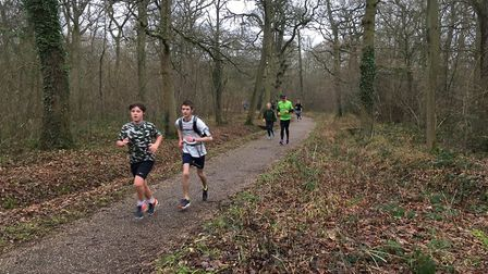 Runners approach the finish of last Saturday's parkrun, in Linford Wood, Milton Keynes