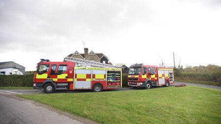 Firefighters tackled a house blaze in Benhall near Saxmundham overnight. Stock image. Picture: GREGG