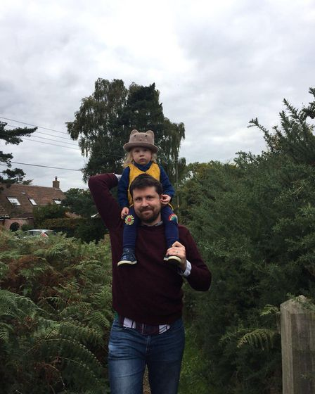 Elliot Furniss with his daughter Adelaide. Picture: ELLIOT FURNISS