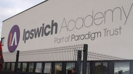 Ipswich Academy has been affected by the high winds.
