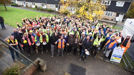TV show DIY SOS is renovating Simon Dobbin's Mildenhall home to make it suitable for his needs after