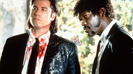 John Travolta and Samuel L Jackson in Pulp Fiction - a film which shouldn't be damned by association