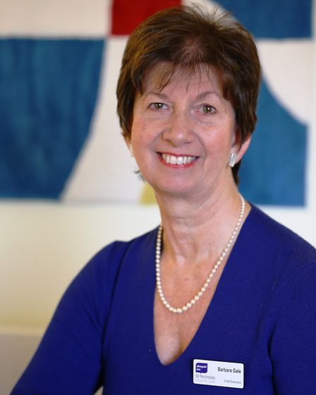 Barbara Gale, chief exeectuive of St Nicholas Hospice Care. Picture: ST NICHOLAS HOSPICE CARE