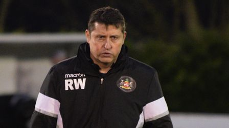 Needham Market boss, Richard Wilkins, knows his side are in a 'dogfight'. Photo: BEN POOLEY