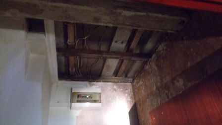 Water damage found in the flat in Bryanita Court, Tiptree, during a council inspection. Picture: COL